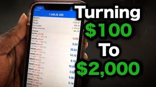 HOW TO GROW $100 TO 2,000 IN 3 DAYS TRADING FOREX IN 2020!