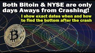 Bitcoin & NYSE crash days away! I show when & how to find BTC price bottom after drop - Charts & TA