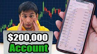 I Tried Forex Day Trading For 1 Week Using $200,000 Account - How Much Profits?
