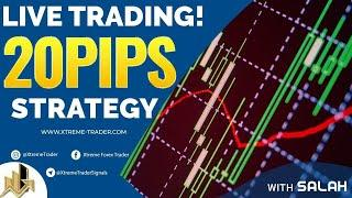 |Forex Live Trading|  20 pips a Day Strategy!
