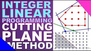 INTEGER LINEAR PROGRAMMING: Cutting Plane Algorithm | Lecture Series #16 | O.R. | EASILY EXPLAINED