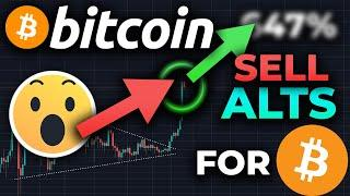 MAJOR ALERT!! SELL Your Altcoins FOR BITCOIN! BTC Could EXPLODE Again Overnight!! BITCOIN BREAKOUT!