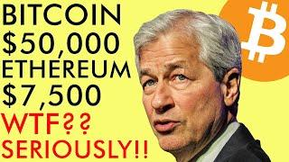 BITCOIN $50,000 ETHEREUM $7500, PRICE PREDICTIONS! WTF? JP MORGAN SHOCKING U-TURN | CRYPTO NEWS 2020