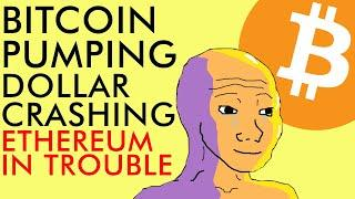 BITCOIN PUMPING DOLLAR CRASHING AND ETHEREUM IN BIG TROUBLE!!! Crypto News 2020