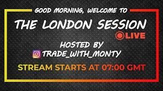 THE LONDON SESSION LIVE Forex Trading - LONDON, Weds , Oct 7th (Free Education)
