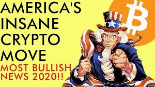BREAKING! USA MAKES HISTORICALLY EPIC BITCOIN MOVE! ETHEREUM 2.0 SOON? Crypto News 2020
