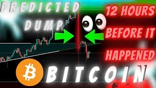 BITCOIN DUMP PREDICTED 12 HOURS BEFORE IT HAPPENED - HERE'S WHAT'S COMING!! (is this possible?)