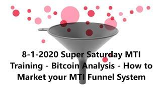 8-1-2020 Super Saturday MTI Training - Bitcoin Analysis - How to Market your MTI Funnel System