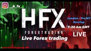 Live Forex Trading with HFX - London/Pre NY session 25th of january 2021